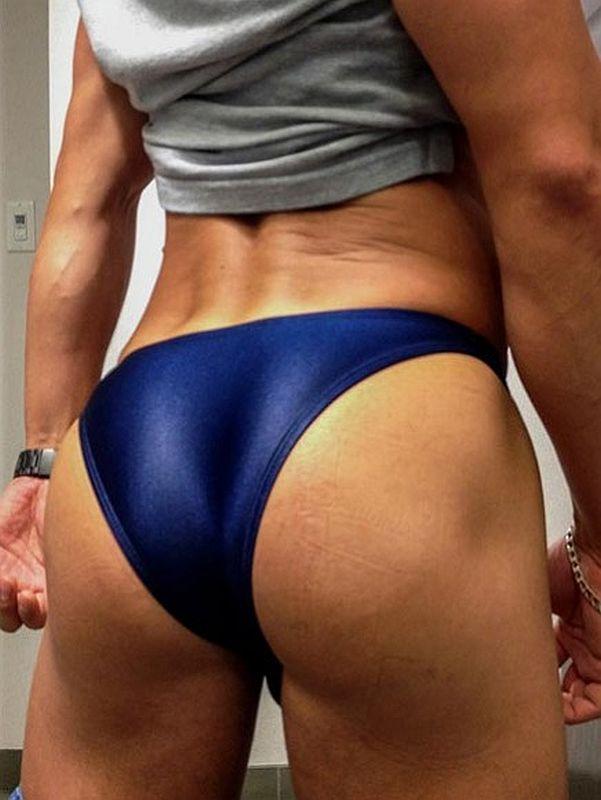 Arroyman Bulge Latex Buns Bulge Bikini