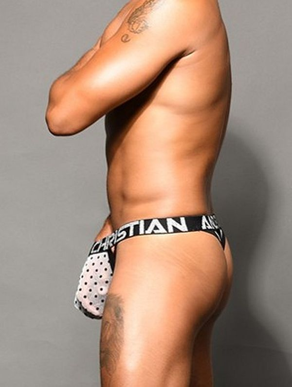 Andrew Christian - Almost Naked sheer dots Y-Tanga